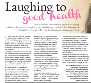 Laughing to good health