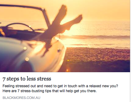 7 Steps to Less Stress